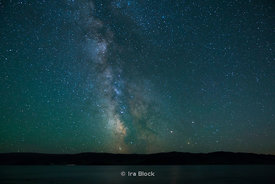 The Milky Way rises over Tolbo Lake in western Mongolia.