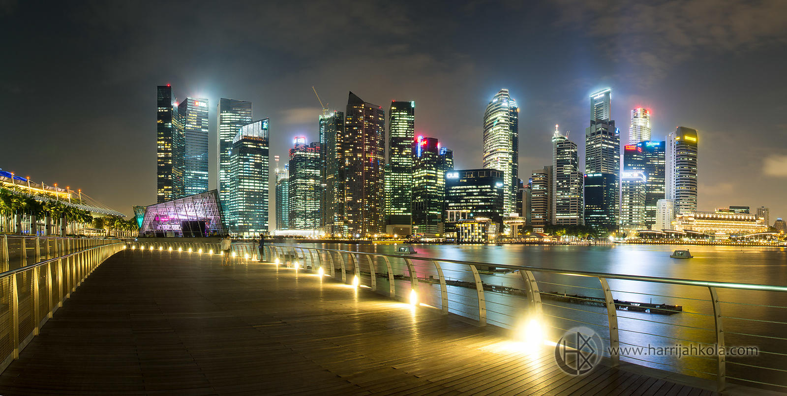 Singapore (Harbor Nighttime Panorama III)