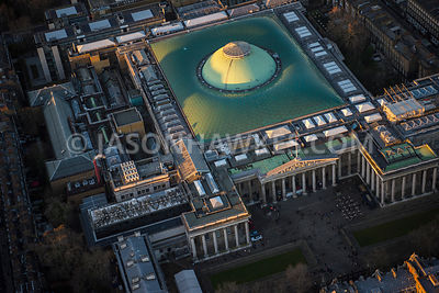 Aerial view of London, Bloomsbury, Museum Plaza.