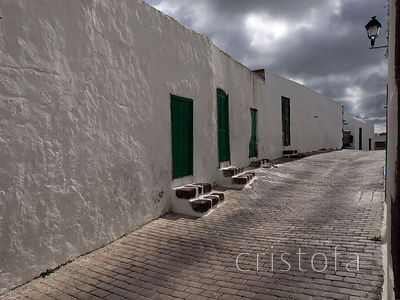 back street in Teguise, Lanzarote