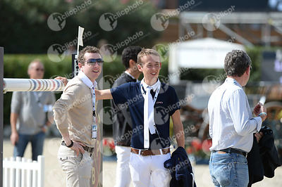 Bertram ALLEN ,(IRL), Greg Patrick BRODERICK  ,(IRL) during Longines Cup of the City of Barcelona competition at CSIO5* Barcelona at Real Club de Polo, Barcelona - Spain