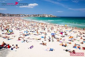 New year's day at Bondi beach Sydney Australia