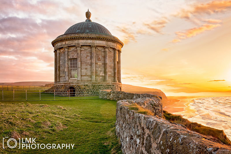 Mussenden Sunset