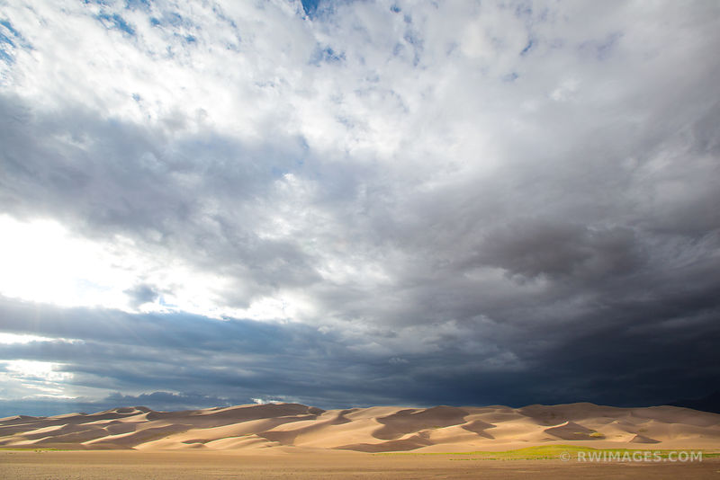 GREAT SAND DUNES NATIONAL PARK COLORADO DESERT SUNSET