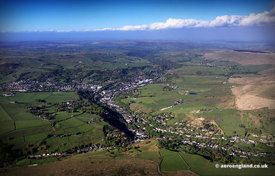 aerial photograph of Todmorden West Yorkshire  UK