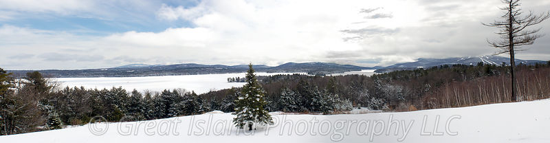 Mt Sunapee & Lake Sunapee Winter Morning Looking toward Newbury