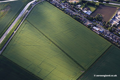 aerial photograph of Crop marks  at Spalding Lincolnshire England UK.