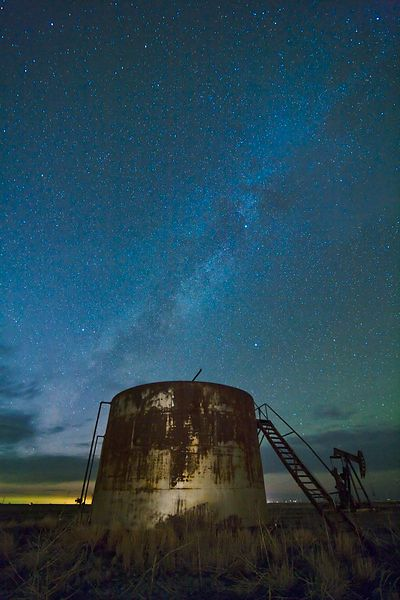 Storage Tank and Milky Way