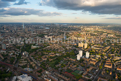London. Aerial view of Southwark