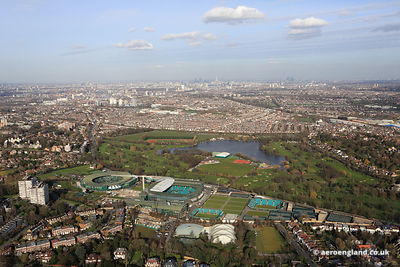 aerial photograph of Wimbledon Park London UK