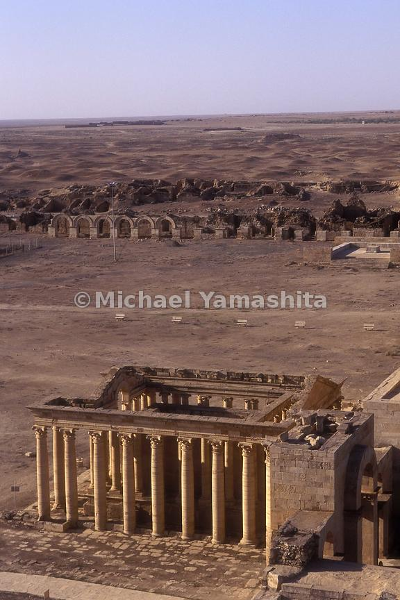 3rd c BC Arabic city.  Archaeologists have studied this site since 1951.  Work has completely stopped due to lack of money 5 years ago. Hatra
