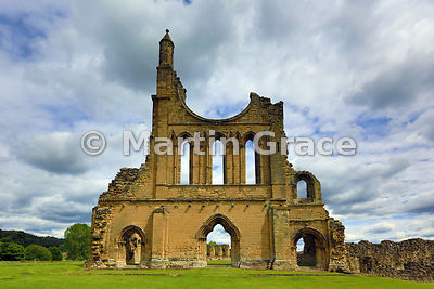 West front of Byland Abbey (1155-1195), North Yorkshire, England