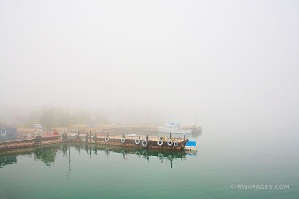 FOG DETROIT HARBOR WASHINGTON ISLAND DOOR COUNTY WISCONSIN
