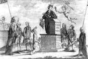 British cartoon during American Revolution