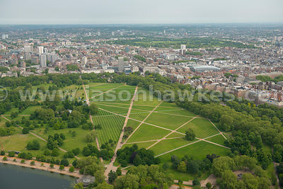 Aerial view of Hyde Park, London