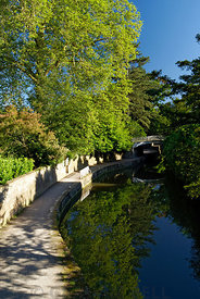Kennet and Avon Canal; Sydney Gardens; Bath; Somerset, England, UK.