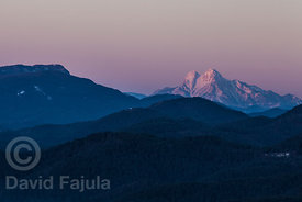 Sunrise over Pedraforca (view from Sant Joan de les Abadesses)
