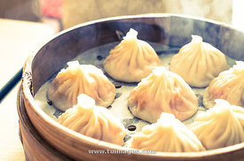 chinese soup dumplings or xiao long bao
