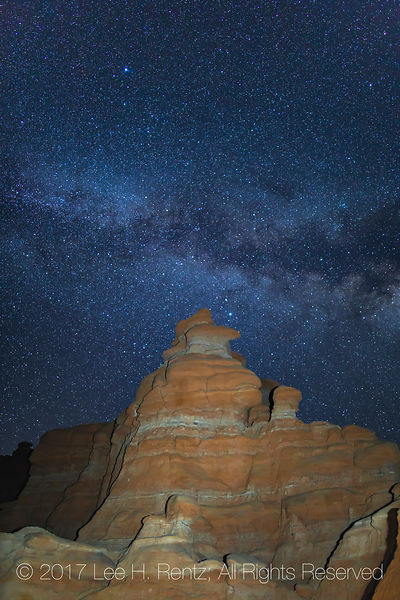 Sandstone Hoodoos at Night in Goblin Valley State Park