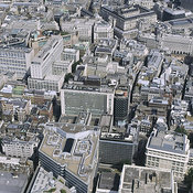 London Business Districts aerial photos