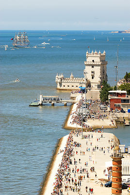 Belem Tower (Torre de Belém). Lisbon. A UNESCO World Heritage site