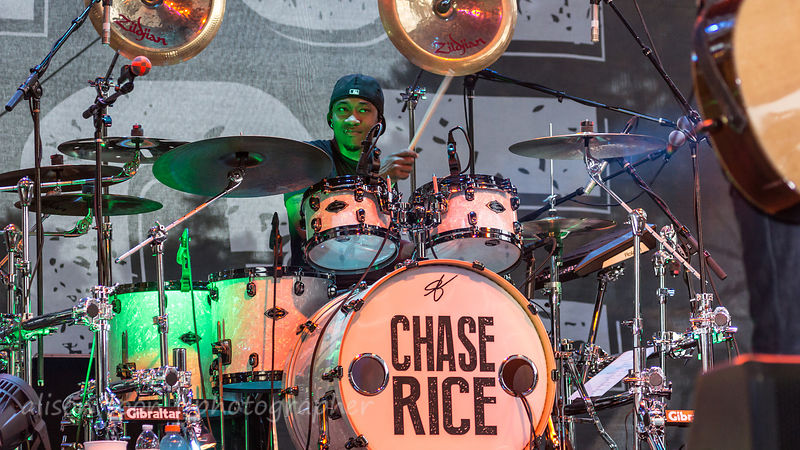 Jeremy Roberson, drums, Chase Rice