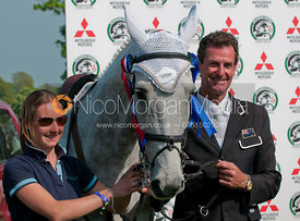 Mark Todd and his groom, Charlie Gardiner, Badminton Horse Trials 2011