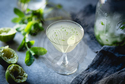 gin & mint cocktail