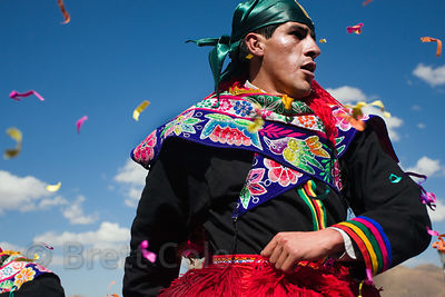 Peruvian man dressed for Cusco Week festivities, Cusco, Peru