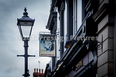 Traditional Street Lamp outside the Bulls Head Pub in Stockport