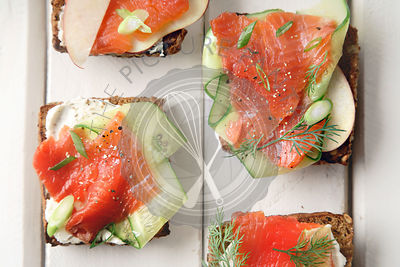 Smorrebrod with salmon