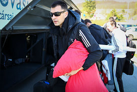 Renato SULIĆ of Veszprém during the Final Tournament - Final Four - SEHA - Gazprom league, team arrival in Varazdin, Croatia, 31.03.2016, ..Mandatory Credit ©SEHA/Zsolt Melczer.