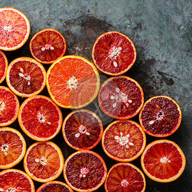 Fresh red Orange Citrus fruit pattern background close-up