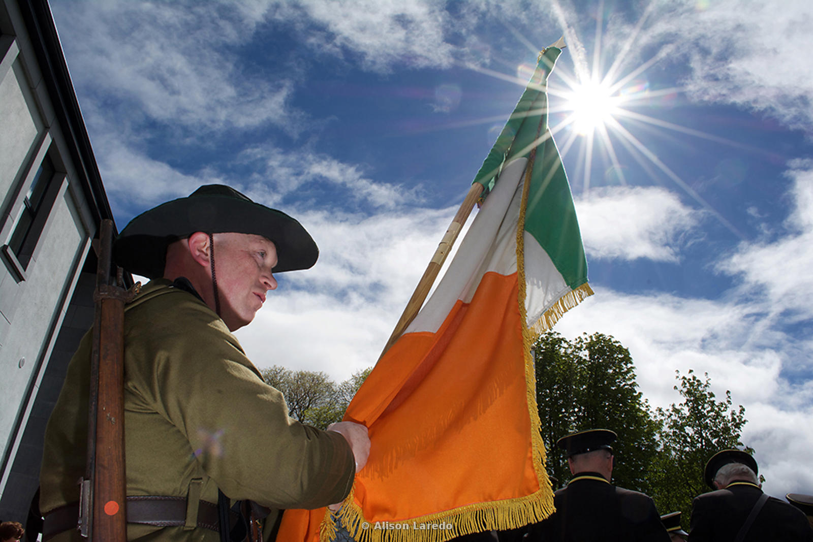 Dwayne Jordon at the 1916 Commemoration, Castlebar PHOTO: ALISON LAREDO