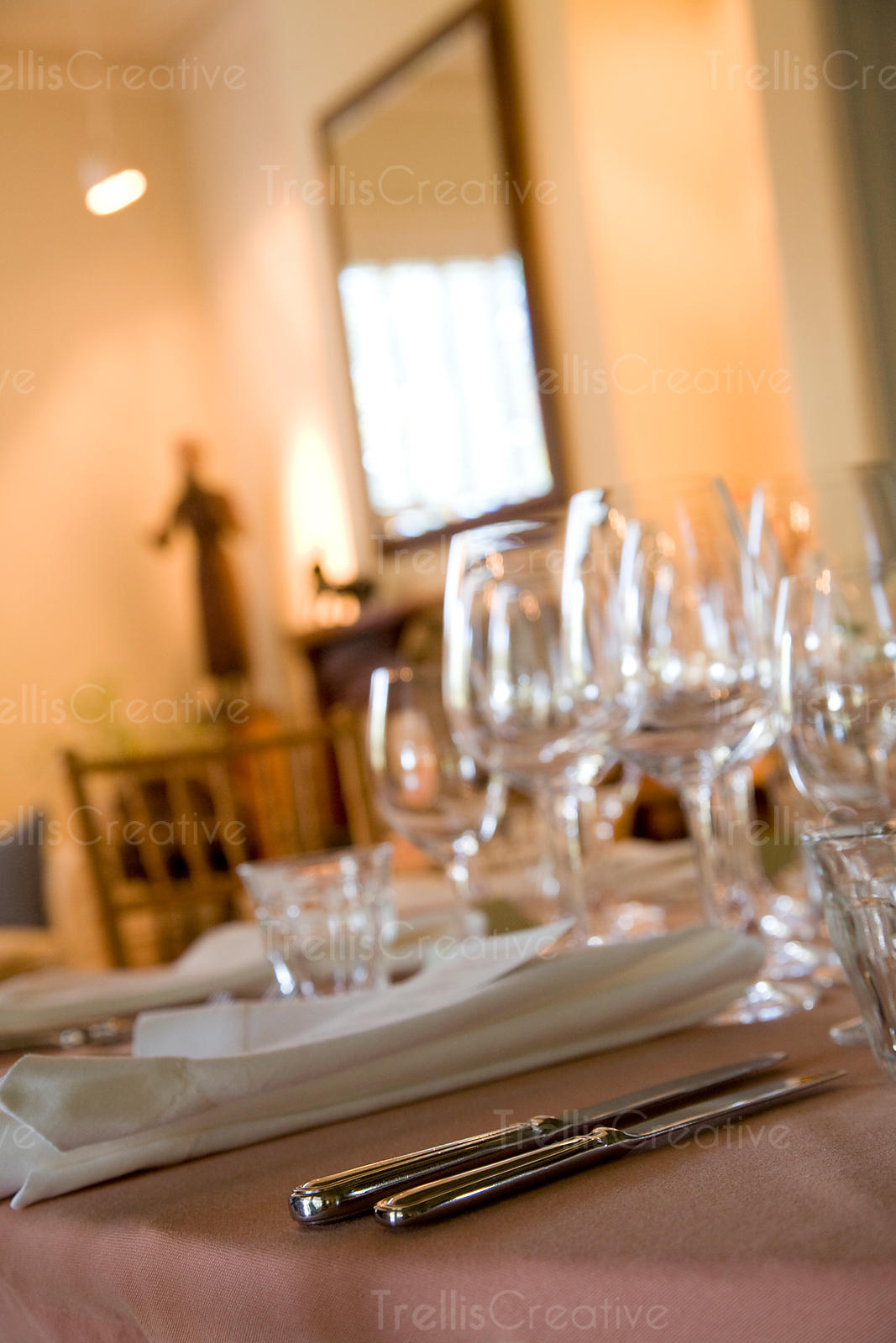 An elegantly set table awaits guests