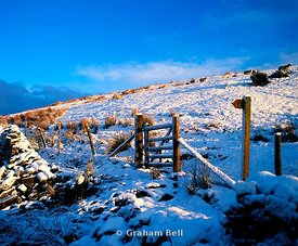 snow scene taf fechan brecon beacons national park wales uk
