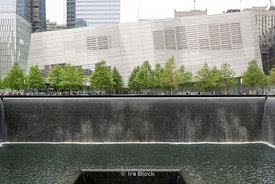 South Pool and National September 11 Memorial & Museum at the World Trade Center site, on the former location of the Twin Towers in New York.