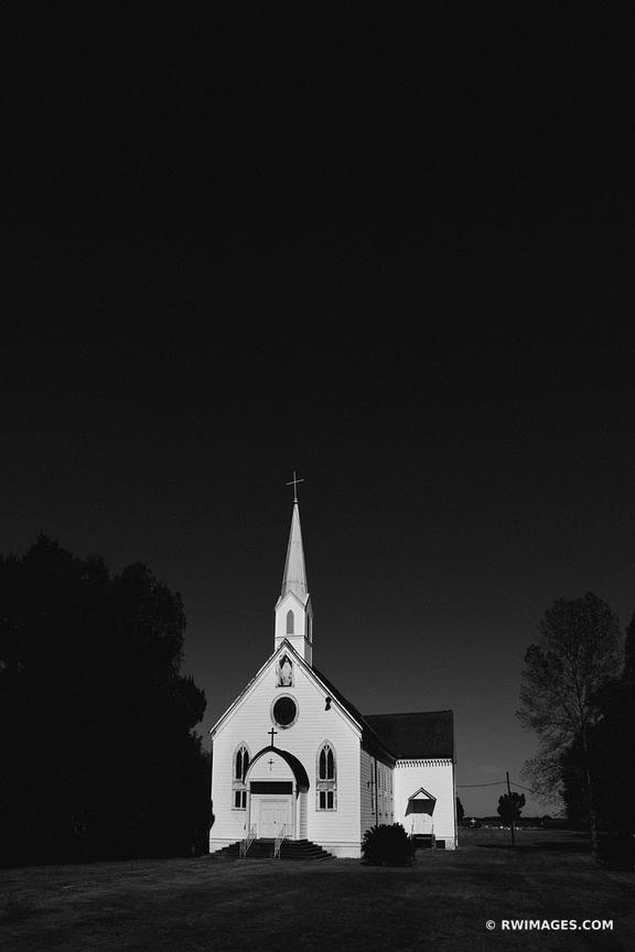 ST. MARY'S CATHOLIC CHAPEL LOUISIANA BLACK AND WHITE