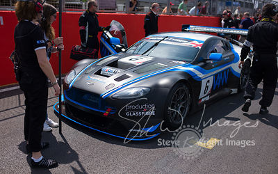 PGF-Kinfaun's Aston Martin Vantage GT3 on the start line at the Silverstone 500 - the third round of the British GT Championship 2014 - 1st June 2014