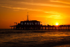 Santa Monica Pier Sunset