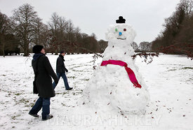 Fr. Snowman at Maynooth College..10.01.10.Pic. Maura Hickey/086 8541130..