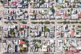 Aerial view of a suburban neighborhood, Mexico