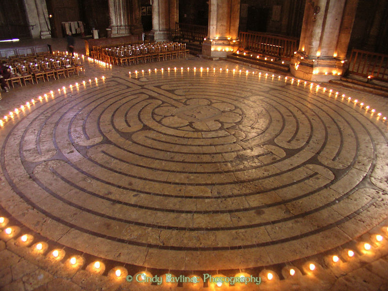 Candlelit Chartres Cathedral Labyrinth