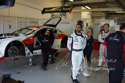 Race winner Ahmad Al Harthy, in the pit lane pre-race with the Oman Racing Team, at the Silverstone 500 - the third round of the British GT Championship 2014 - 1st June 2014