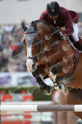 Bassem Hassan MOHAMMED ,(QAT), THE TOYMAKER during Longines Cup of the City of Barcelona competition at CSIO5* Barcelona at Real Club de Polo, Barcelona - Spain