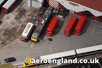 aerial photograph of Crewe Heritage Centre Cheshire England UK