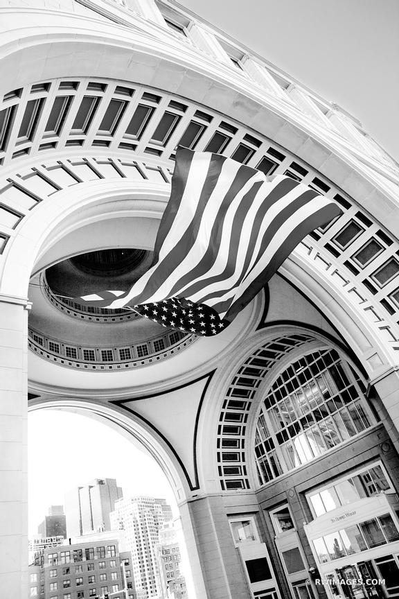ROWES WHARF BOSTON BLACK AND WHITE VERTICAL