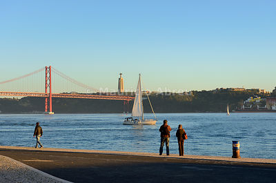 A moment of peace by the Tagus river. Lisbon, Portugal
