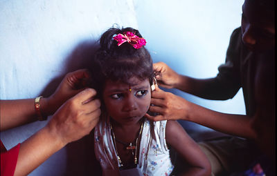 A deaf child in Puri, India