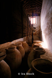 Old olive oil urns